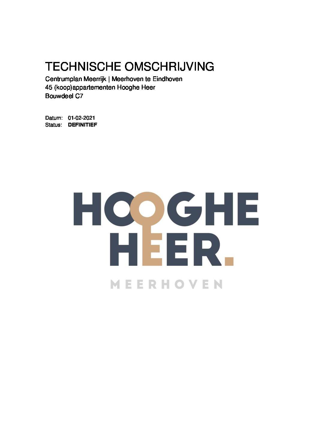 201221 TO Hooghe Heer 45 app. Meerrijk C7 DEFINITIEF