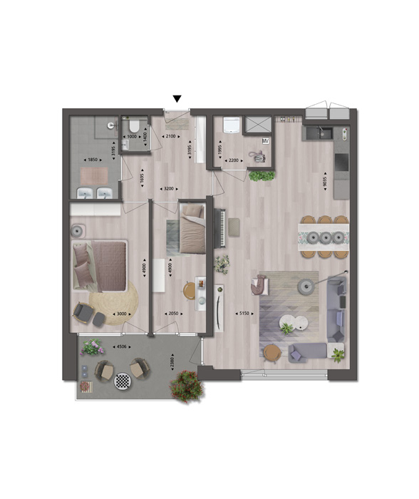 Appartement 27_Type P2a